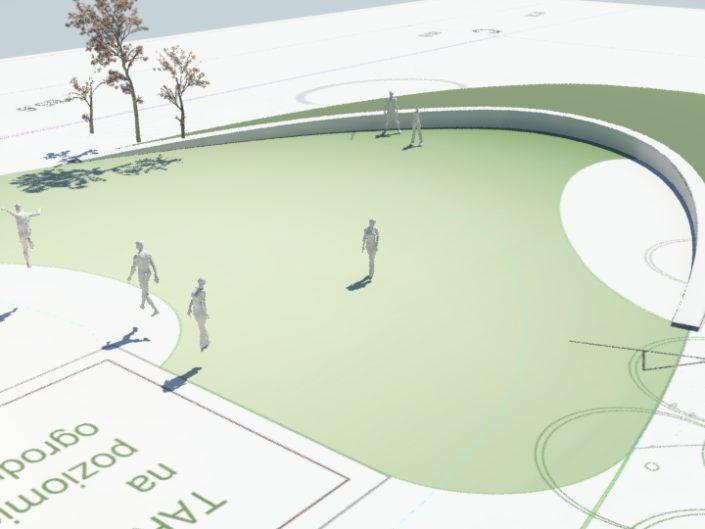 model 3d pomaga w planowaniu ukształtowania terenu